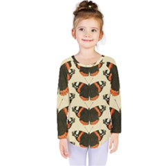 Butterfly Butterflies Insects Kids  Long Sleeve Tee