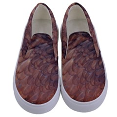 Feather Chicken Close Up Red Kids  Canvas Slip Ons