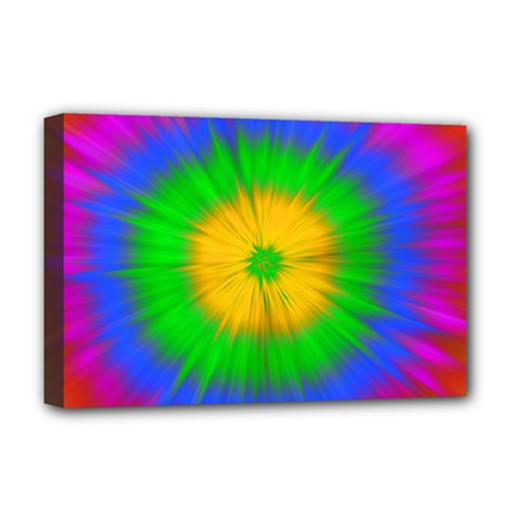 Spot Explosion Star Experiment Deluxe Canvas 18  X 12   by BangZart