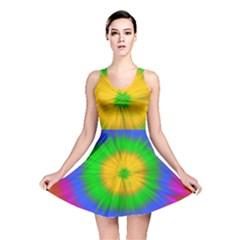 Spot Explosion Star Experiment Reversible Skater Dress