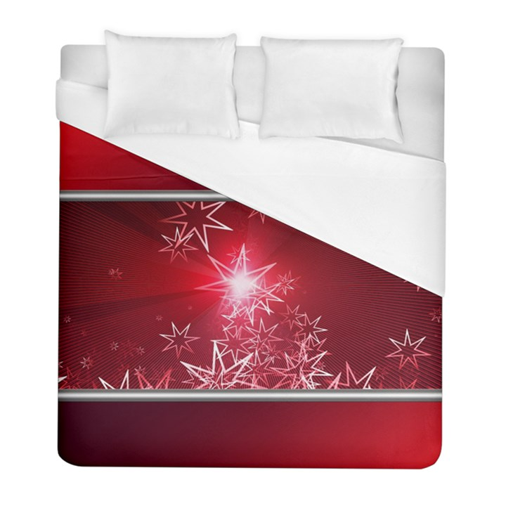 Christmas Candles Christmas Card Duvet Cover (Full/ Double Size)