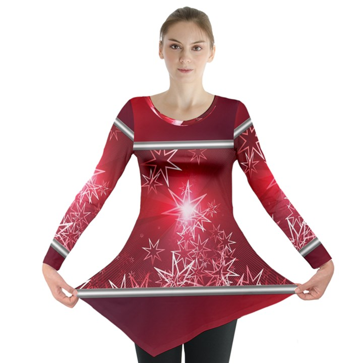 Christmas Candles Christmas Card Long Sleeve Tunic