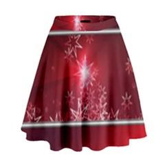 Christmas Candles Christmas Card High Waist Skirt