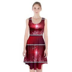 Christmas Candles Christmas Card Racerback Midi Dress