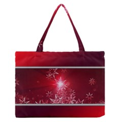 Christmas Candles Christmas Card Zipper Medium Tote Bag