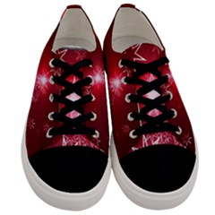 Christmas Candles Christmas Card Men s Low Top Canvas Sneakers