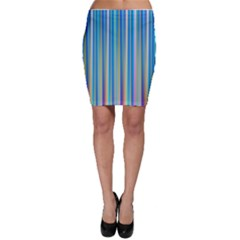 Colorful Color Arrangement Bodycon Skirt
