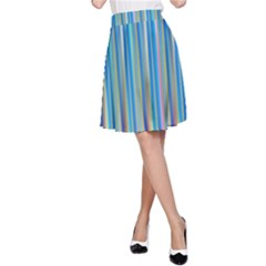 Colorful Color Arrangement A Line Skirt
