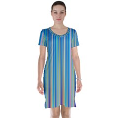 Colorful Color Arrangement Short Sleeve Nightdress