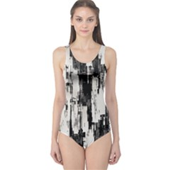 Pattern Structure Background Dirty One Piece Swimsuit