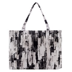 Pattern Structure Background Dirty Zipper Medium Tote Bag
