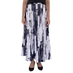 Pattern Structure Background Dirty Flared Maxi Skirt