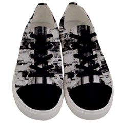 Pattern Structure Background Dirty Men s Low Top Canvas Sneakers