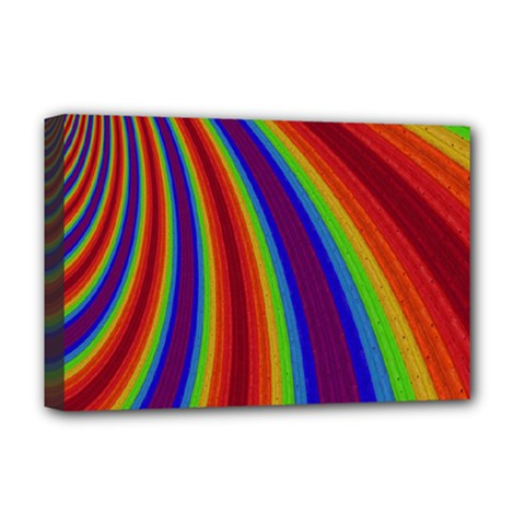 Abstract Pattern Lines Wave Deluxe Canvas 18  X 12