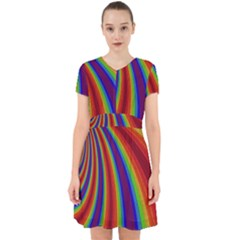 Abstract Pattern Lines Wave Adorable In Chiffon Dress