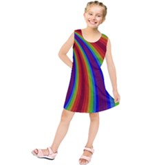 Abstract Pattern Lines Wave Kids  Tunic Dress