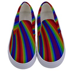 Abstract Pattern Lines Wave Kids  Canvas Slip Ons