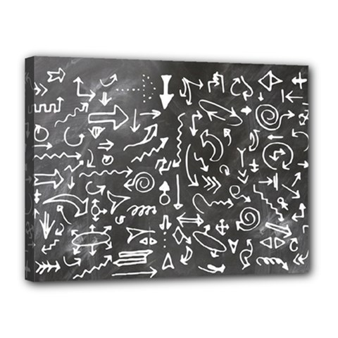Arrows Board School Blackboard Canvas 16  X 12  by BangZart