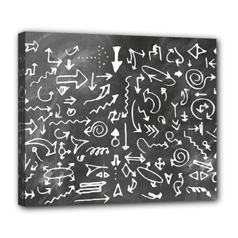Arrows Board School Blackboard Deluxe Canvas 24  X 20