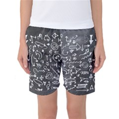 Arrows Board School Blackboard Women s Basketball Shorts
