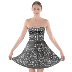 Arrows Board School Blackboard Strapless Bra Top Dress