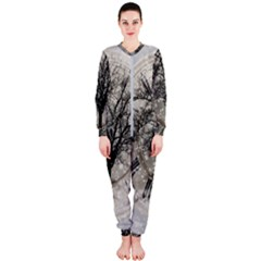 Snow Snowfall New Year S Day Onepiece Jumpsuit (ladies)