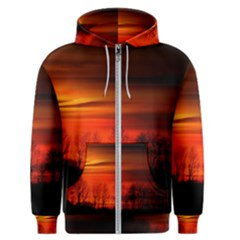 Tree Series Sun Orange Sunset Men s Zipper Hoodie
