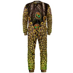 Peacock Feathers Wheel Plumage Onepiece Jumpsuit (men)
