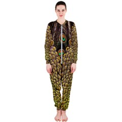 Peacock Feathers Wheel Plumage Onepiece Jumpsuit (ladies)