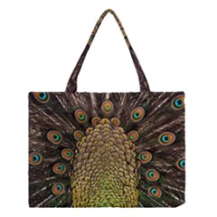 Peacock Feathers Wheel Plumage Medium Tote Bag