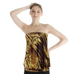 Pattern Tiger Stripes Print Animal Strapless Top