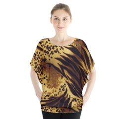Pattern Tiger Stripes Print Animal Blouse