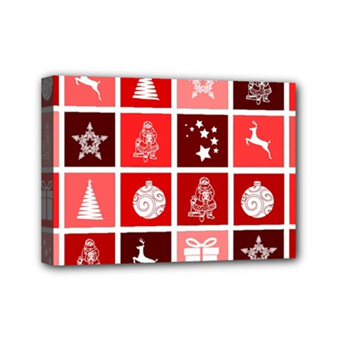 Christmas Map Innovative Modern Mini Canvas 7  X 5  by BangZart