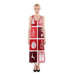 Christmas Map Innovative Modern Sleeveless Maxi Dress