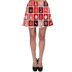 Christmas Map Innovative Modern Skater Skirt
