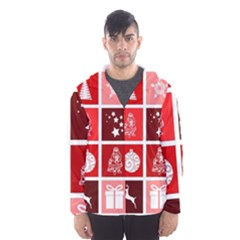 Christmas Map Innovative Modern Hooded Wind Breaker (men)