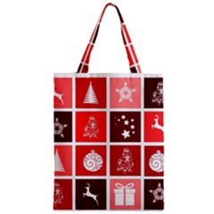 Christmas Map Innovative Modern Zipper Classic Tote Bag
