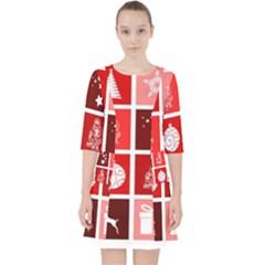 Christmas Map Innovative Modern Pocket Dress
