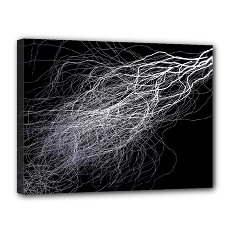 Flash Black Thunderstorm Canvas 16  X 12
