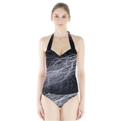 Flash Black Thunderstorm Halter Swimsuit