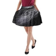 Flash Black Thunderstorm A Line Pocket Skirt