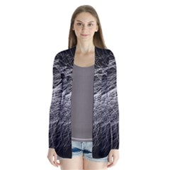 Flash Black Thunderstorm Drape Collar Cardigan