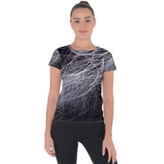 Flash Black Thunderstorm Short Sleeve Sports Top