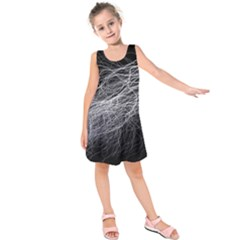 Flash Black Thunderstorm Kids  Sleeveless Dress