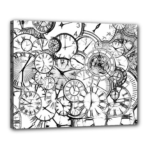 Time Clock Watches Time Of Canvas 20  X 16
