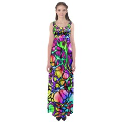 Network Nerves Nervous System Line Empire Waist Maxi Dress
