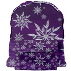 Christmas Star Ice Crystal Purple Background Giant Full Print Backpack by BangZart