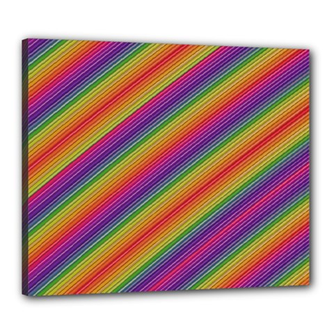 Spectrum Psychedelic Canvas 24  X 20  by BangZart
