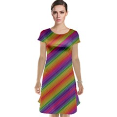 Spectrum Psychedelic Cap Sleeve Nightdress by BangZart