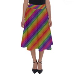 Spectrum Psychedelic Perfect Length Midi Skirt
